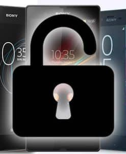 unlock sony phone